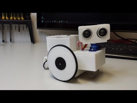 ArduBot – 3D Printed Arduino robot – YouTube