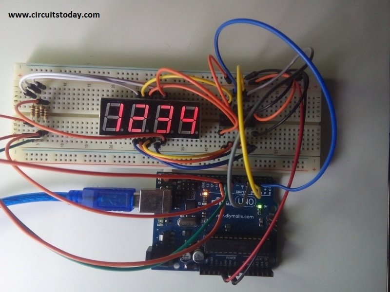 Arduino and Seven Segment Display-Interfacing
