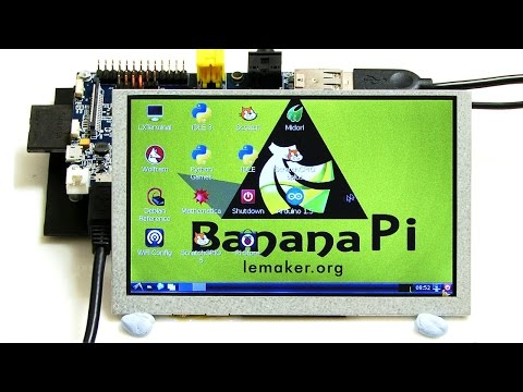 Banana Pi Camera & LCD – YouTube