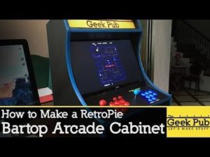 Build a RetroPie Bartop Arcade Cabinet with a Raspberry Pi – YouTube