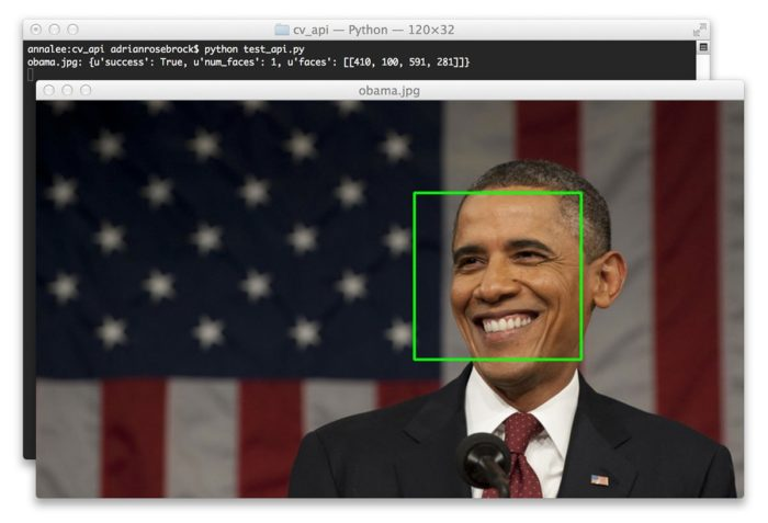 Creating a face detection API with Python and OpenCV (in just 5 minutes) – PyImageSearch