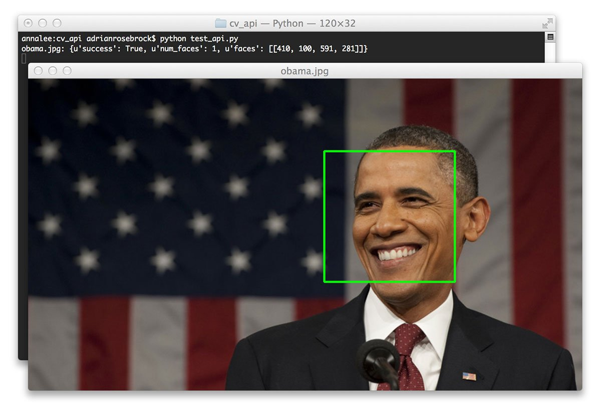 Creating a face detection API with Python and OpenCV (in just 5