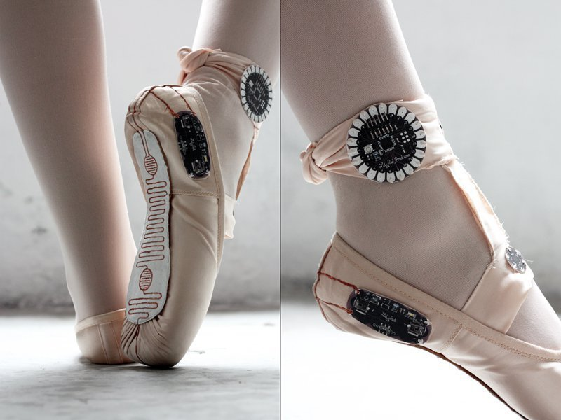 E-Traces: Ballet Slippers That Make Drawings from the Dancer's Movements #WearableWednesday « Ad ...