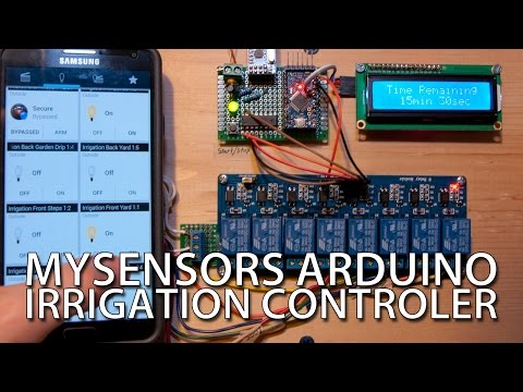 How To – Cheap, DIY Arduino Irrigation Controller with MySensors – YouTube