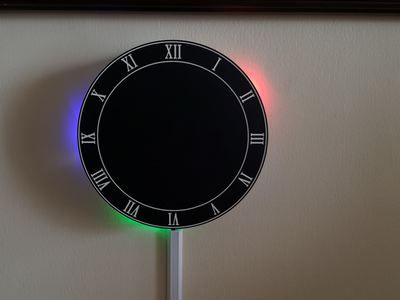 LED Reflection Clock – Hackster.io