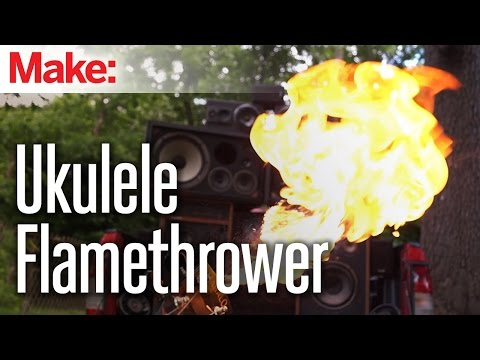 Mad Max Doof Warrior Inspired Flamethrower Ukulele – YouTube