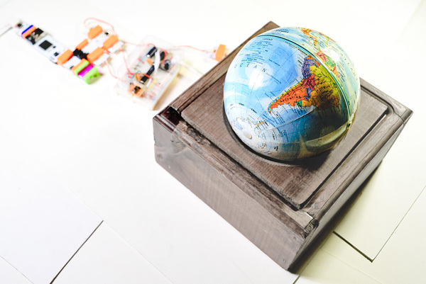 Make A Realtime Spinning Globe With LittleBits And Arduino « Adafruit Industries – Makers, hacke ...