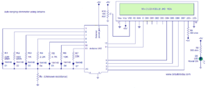 OhmMeter Circuit Using Arduino – Measure Resistance in LCD
