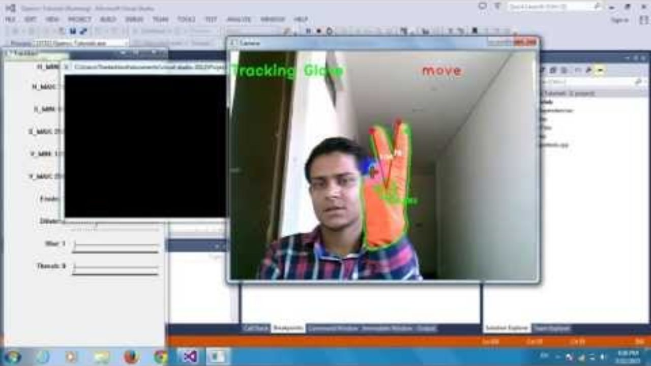 Project 1 :Mouse Control By Hand Gesture Tracking Using Opencv and
