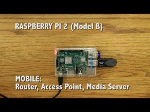 Raspberry Pi 2 Project – Mobile Router, Access Point, Media Server – YouTube