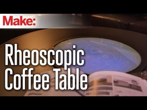 Rheoscopic Disc Coffee Table – YouTube
