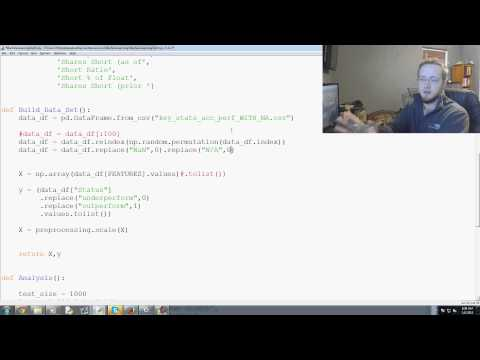Scikit Learn Machine Learning Tutorial for investing with Python p. 19 – YouTube