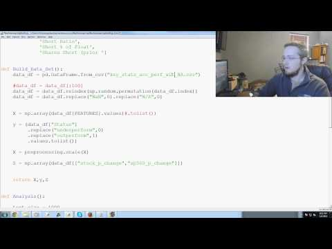 Scikit Learn Machine Learning Tutorial for investing with Python p. 20 – YouTube