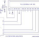 Simple ultrasonic range finder using arduino  Circuit diagram