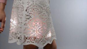Sparkle Skirt with Flora Motion Sensor on Vimeo