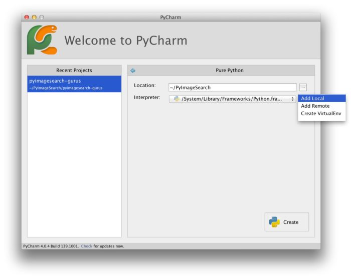 The perfect computer vision environment: PyCharm, OpenCV, and Python virtual environments – ...