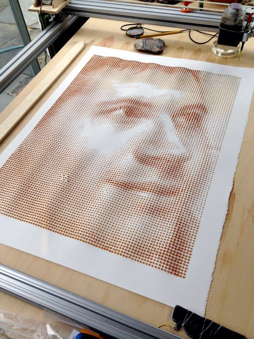 This Arduino Powered Machine Prints Photos with Drops of Coffee
