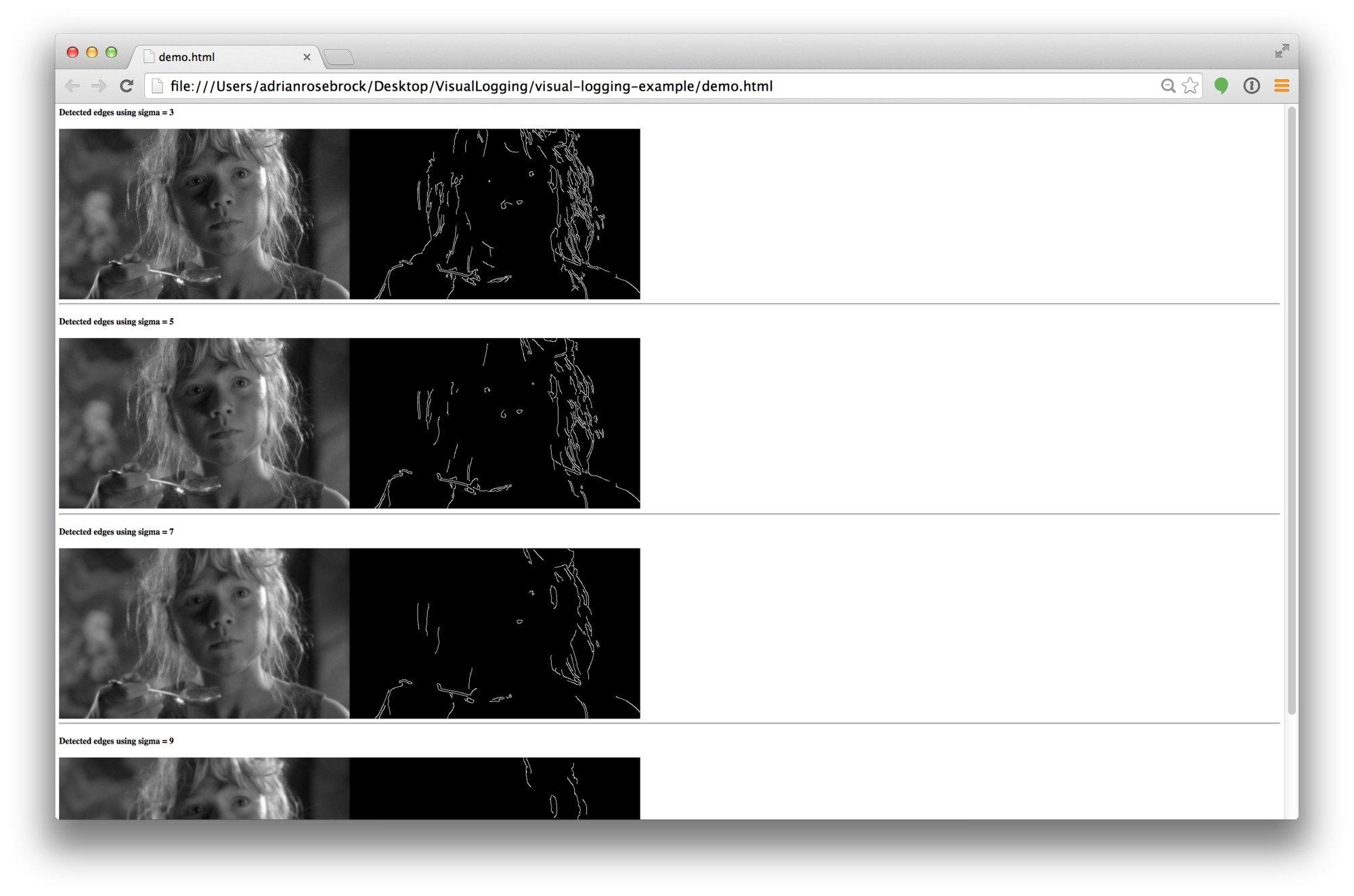 visual-logging, my new favorite tool for debugging OpenCV