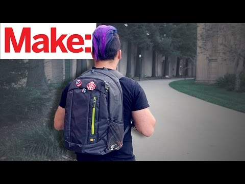 Weekend Project: Shrieking Anti-Theft Backpack – YouTube