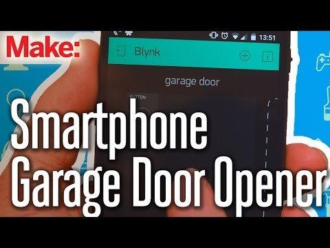 Weekend Project: Smartphone Garage Door Opener – YouTube