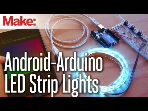 Weekend Projects – Android-Arduino LED Strip Lights – YouTube