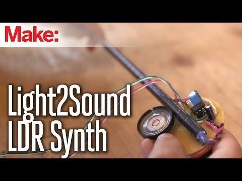 Weekend Projects – Light2Sound LDR Synth – YouTube
