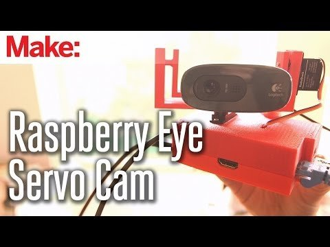 "Weekend Projects – ""Raspberry Eye"" Remote Servo Cam – YouTube"