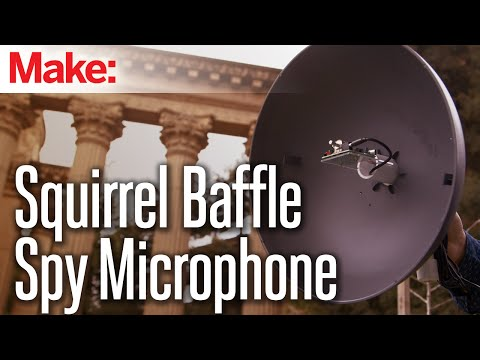 Weekend Projects – Squirrel-Baffle Spy Microphone – YouTube