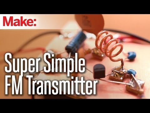 Weekend Projects – Super Simple FM Transmitter – YouTube