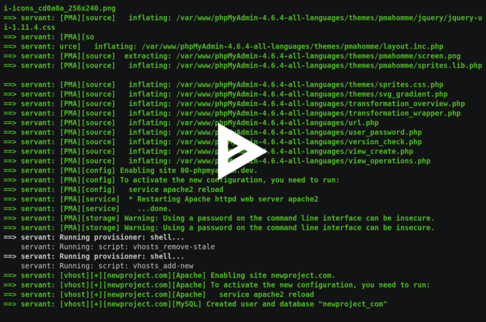 frdmn/servant: Vagrant based web development system