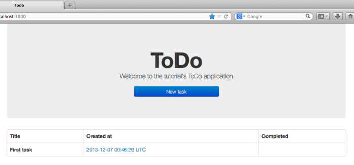 Creating a simple ToDo application with Ruby on Rails – Part 1