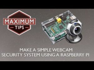 Make a simple webcam security system using a raspberry pi