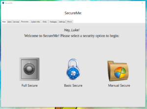 Welcome to SecureMe-WinSec! A User-friendly application that allows users to automatically and f ...