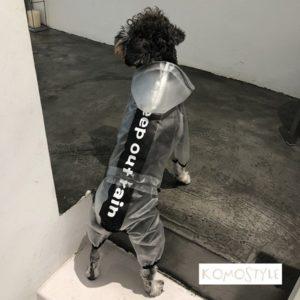 人気 小型犬/中型犬 レインコート オシャレ 犬用ポンチョ 脱着簡単 ペット用 オーバーオールタイプ