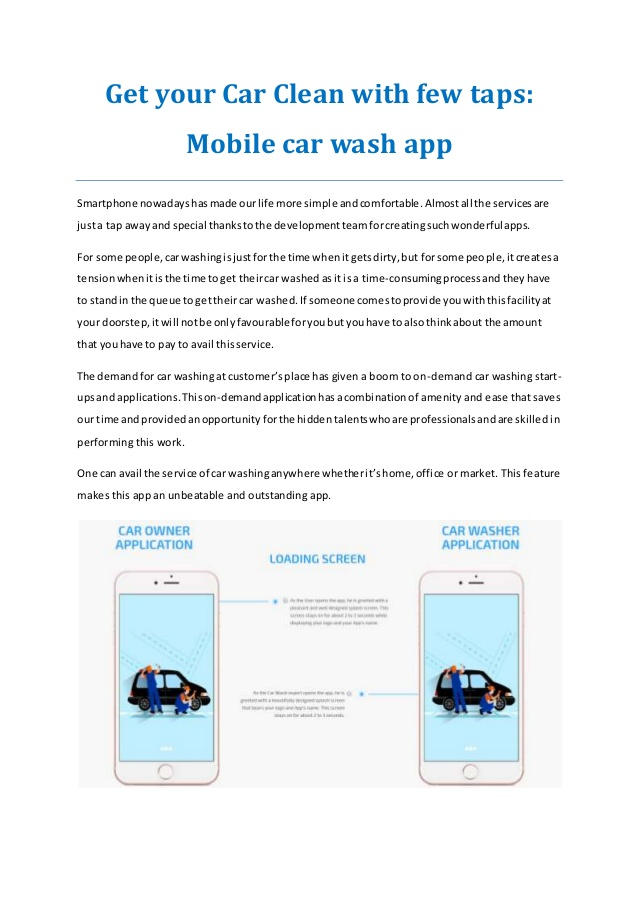 Make your Car gleaming with Mobile car wash app