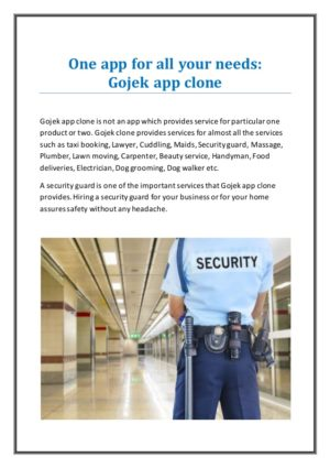 Gojek app clone