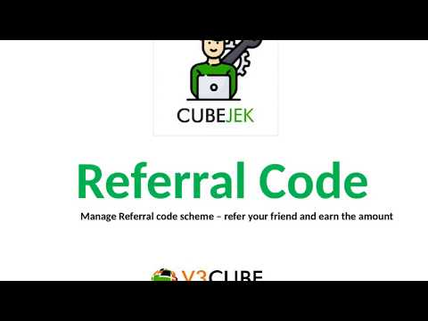 Referral Code Feature Gojek Clone Application   See how the Referral code feature works in Gojek clone application. also Manage referral code scheme – refer your friend and earn the amount. Know more… https://www.cubetaxi.com/gojek-clone