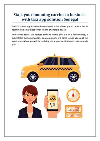 Start your booming carrier in business with taxi app solution Senegal