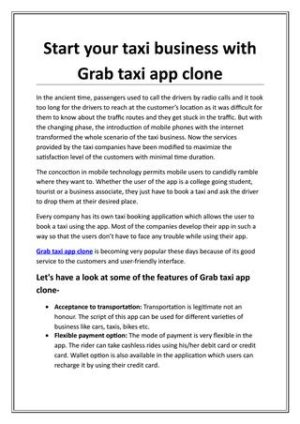 Start your taxi business with Grab taxi app clone by V3cube – Issuu  Build with spotlight  ...