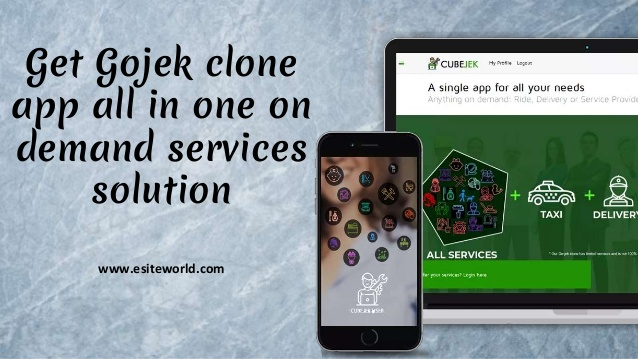 Gojek Clone app: all in one on demand services solution  Launch all in one gojek clone providing ...