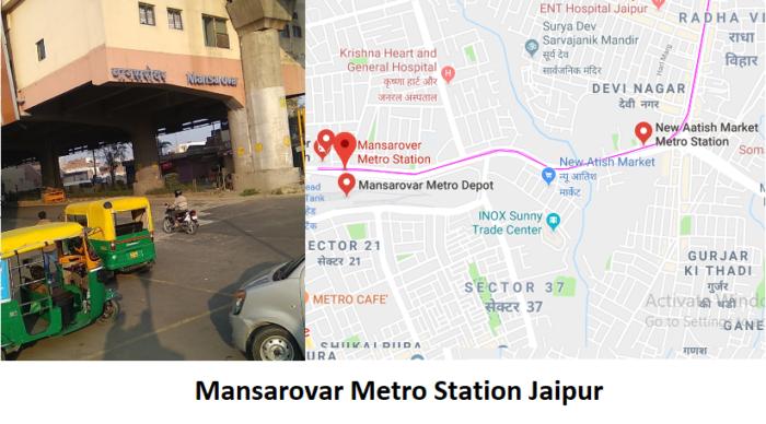 Mansarovar Metro Station Jaipur Mansarovar Metro Station Jaipur -Routemaps.info Mansarovar is me ...