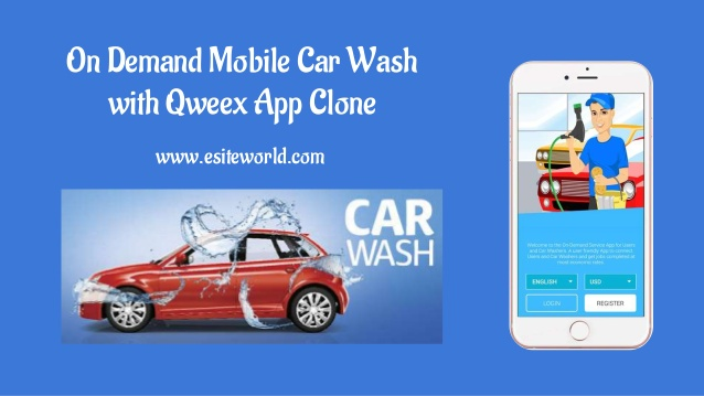 On Demand Mobile Car Wash with Qweex App Clone
