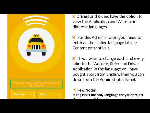 Text Content Management – Uber Taxi Clone Apps