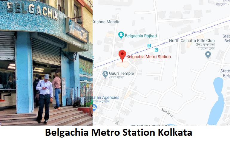 Belgachia is a station of the Kolkata metro. Belgachia is underground metro station situated on  ...
