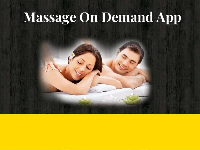 Massage on demand app development