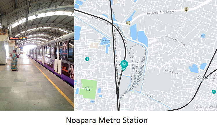 Noapara Metro Station is the newest and laegest station is the Kolkata Metro. It was opened in 1 ...