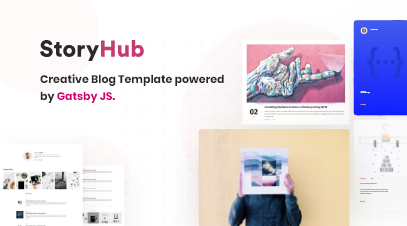 StoryHub – React Gatsby Blog Template