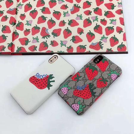 イチゴ柄入れ、オリジナルデザインで、おしゃれ感も個性も溢れるグッチiPhoneXケースです。 超可愛い見 ...