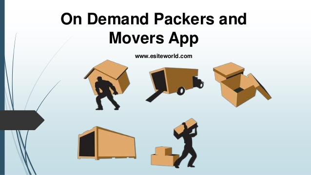 On demand packers and movers app