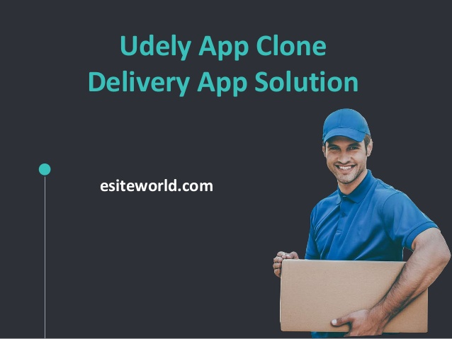 Udely App Clone Delivery App Solution